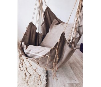 Hammock fabric from Infancy Velor 'Taup'