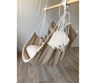 Hammock fabric hanging from the Infancy of velor 'Latte'