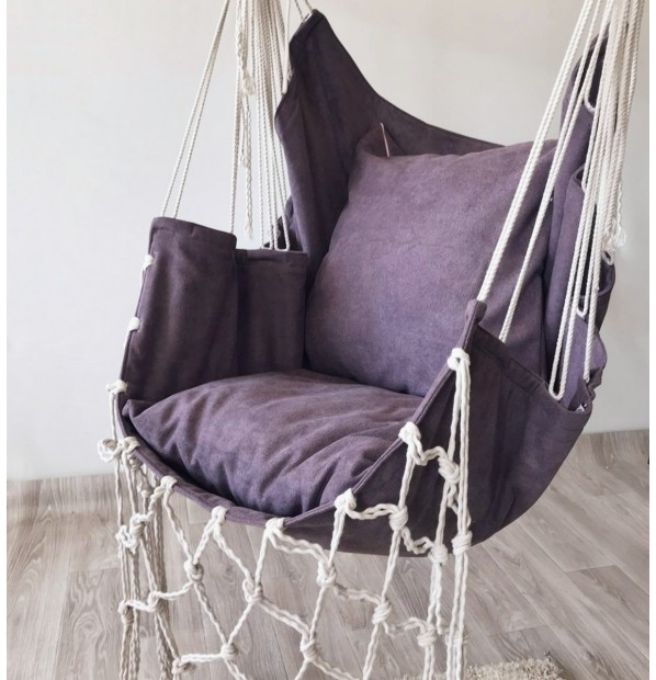 Hanging a hammock-chair 'Scandinavia color' of the Infancy