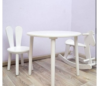 Set round table chair and horse from Infancy