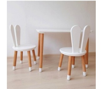 Set 'Scandi' rectangular table and two chairs from the Infancy.