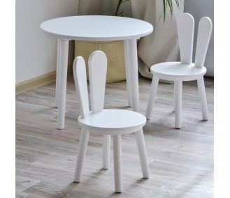 Set of children's furniture Infancy round table and two chairs