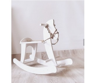 Outdoor swing rocking horse Infancy ™, White