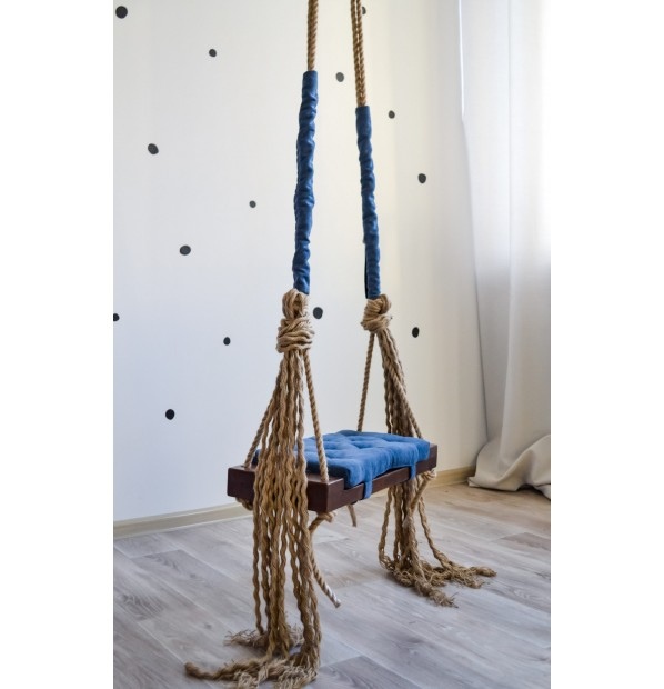 Wooden swing 'Tale (Classic)' Infancy ™, blue, with dark basis