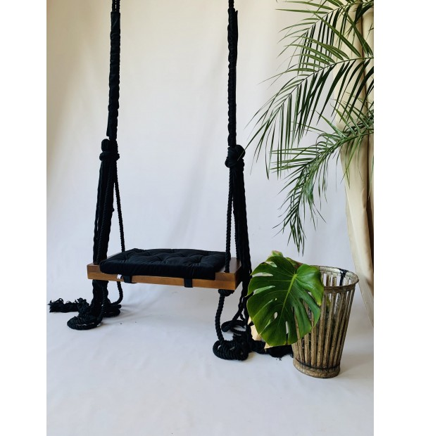 Wooden swing 'Tale (Classic)' Infancy ™, Black, with dark basis