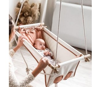 """Swing fabric for newborns Infancy """"Creme brulee"""""""