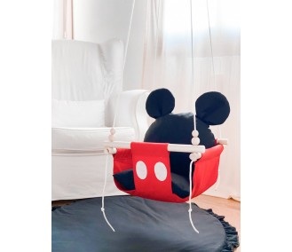 """Hanging fabric baby swing from Infancy """"Mickey"""""""