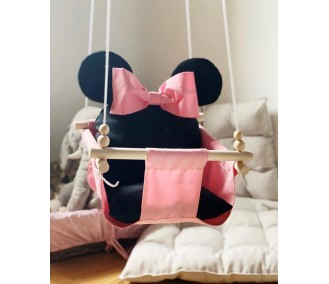 """Hanging fabric baby swing from Infancy """"Minnie"""""""