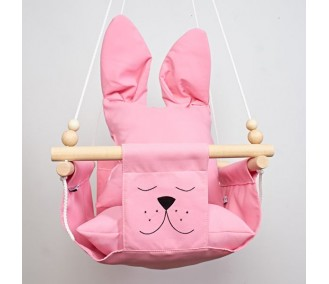 """Hanging fabric children's swing from Infancy ™ """"Ears"""" pink"""