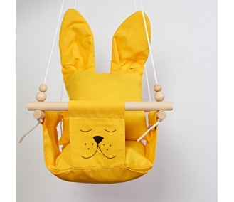 """Hanging fabric children's swing from Infancy ™ """"Ears"""" yellow"""