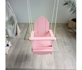 Swing for children Wooden false Infancy 'Classic' pink