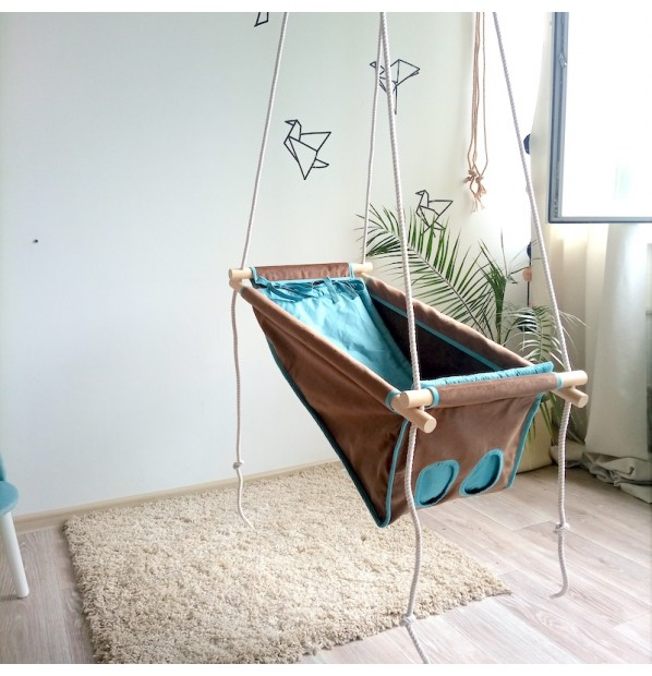 """Swing fabric for newborns Infancy """"a whim"""""""