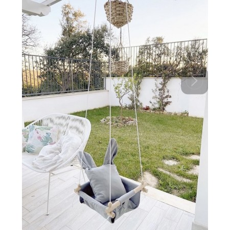 """Hanging fabric children's swing from Infancy ™ """"Ears"""" gray"""