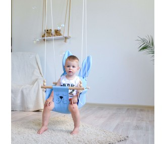 """Hanging fabric children's swing from Infancy ™ """"Ears"""" blue"""