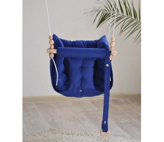 """Fabric suspended children's swing from Infancy """"Galetnaya"""" blue"""