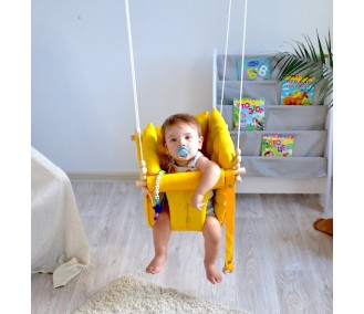 """Fabric suspended children's swing from Infancy """"Galetnaya"""" yelow"""